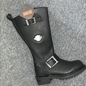 Harley Davidson Chalmers black leather riding boot